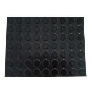 JNDL/金能电力 圆凸点绝缘橡胶板 JN-JDT 黑色 厚3mm 宽1m 测试电压5KV  1卷