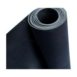 JNDL/金能电力 均匀条纹绝缘橡胶板 JN-JDJ 黑色 厚5mm 宽1m 测试电压10kV 1卷