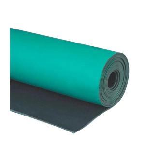 JNDL/金能电力 防静电橡胶板 JN-JDBG-02 绿黑 厚2mm 宽1m 1卷