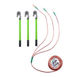 JNDL/金能电力 35kv接地线组 1.5米棒组+25m㎡软铜线(3*1.5米+7米)+地卡 JN-JDXZ-35 1套