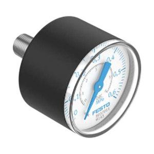 FESTO/费斯托 PAGN系列压力表 PAGN-40-0.6M-R18-1.6 压力范围0~0.6MPa 标准式 表盘外径40mm 接口R1/8 1个