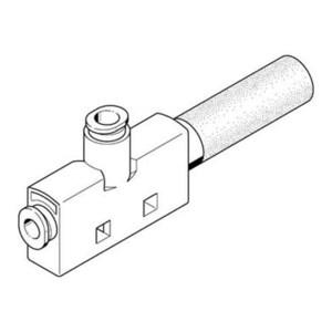FESTO/费斯托 VN系列真空发生器 VN-10-H-T4-PQ2-VQ3-RO2 喷嘴口径0.95mm 最高真空压力4.5bar 压缩空气接口6mm 549251 1件