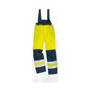 DELTA/代尔塔 PU涂层涤纶荧光防寒裤 404014 M 黄色+藏青色 1条