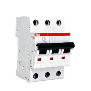 ABB S200系列微型断路器 S203-C20 C脱扣 额定电流20A 1个