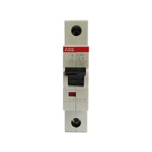 ABB S200系列微型断路器 S201-C4 C脱扣 额定电流4A 1个