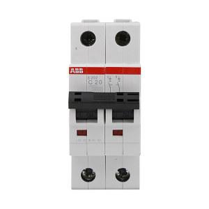 ABB S200系列微型断路器 S202-C20 C脱扣 额定电流20A 1个