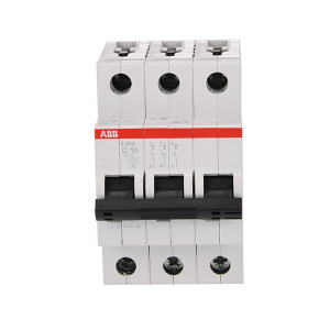 ABB S200系列微型断路器 S203-C10 C脱扣 额定电流10A 1个