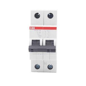 ABB SH200系列微型断路器 SH201-C63 C脱扣 额定电流63A 1个