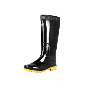 HUILI/回力 男款黑色高筒雨靴 807 42码 1双