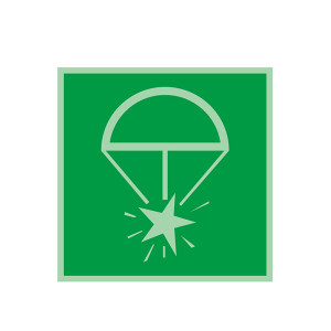 SAFEWARE/安赛瑞 船用IMO安全标志(火箭降落伞火焰信号) 21015 150*150mm 1张