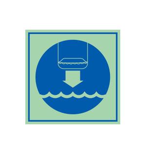 SAFEWARE/安赛瑞 船用IMO安全标志(将救生艇降至水面) 21033 150*150mm 1张
