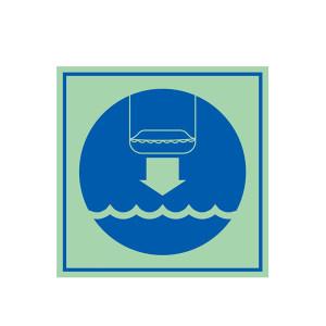 SAFEWARE/安赛瑞 船用IMO安全标志(将救生艇降至水面) 21034 150*150mm 1张