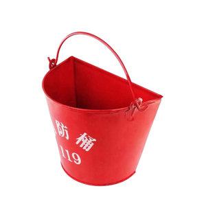 SAFEWARE/安赛瑞 消防桶 20412 红色粉末喷涂钢板 半圆形 1个