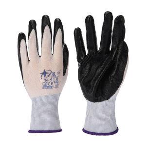 XINGYU/星宇 十三针白尼龙丁腈涂掌手套 N518 M(均码) 黑色涂层 1副