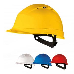 DELTA/代尔塔 Ⅰ型抗紫外线高密度聚丙烯安全帽 102012 印中铁LOGO和字 白色 1顶