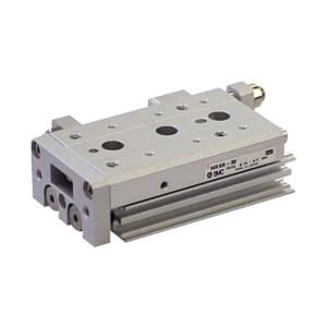 SMC MXS系列气动滑台 MXS8-30BSAT-M9NL 缸径8mm 行程30mm 附磁石 附磁性开关+调整器 1个