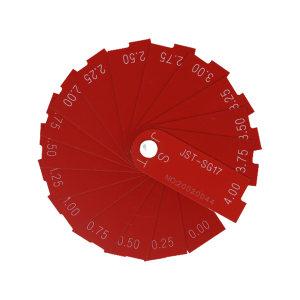JST/杰斯特 塑料面差尺 JST-SG17 0-4mm 17片 不代为第三方检测 1套