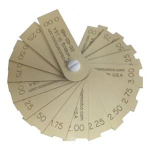 JST/杰斯特 塑料面差尺 10125 0-4 17片装 不代为第三方检测 1套