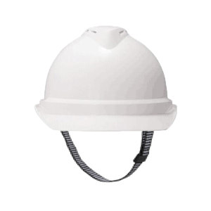 MSA/梅思安 V-Gard500 ABS豪华型有孔安全帽 10146665 白色 带透气孔 一指键帽衬 PVC吸汗带 D型下颏带 1顶