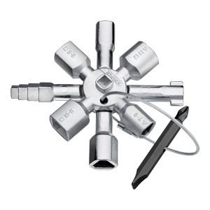 KNIPEX/凯尼派克 Twinkey控制柜双钥匙 00 11 01 95mm 1把