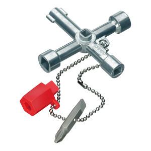 KNIPEX/凯尼派克 控制柜钥匙 00 11 03 76mm 1把