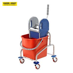 K+K/皇加力 EUROKRAFT不锈钢清洁车 480728 470×410×900mm单移动桶 25L 金属脚轮 1个
