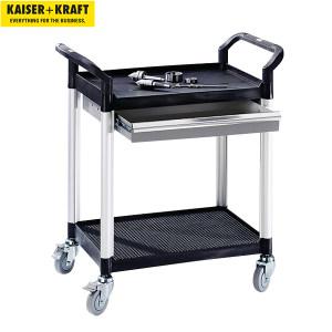 K+K/皇加力 带抽屉通用推车 507565 长x宽x高850x480x950,1个抽屉2块搁板,承重可达200kg 1个