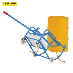 K+K/皇加力 EUROKRAFT圆桶支座,200升圆桶用 642371 圆桶支座带2个尼龙脚轮,2个尼龙万向脚轮 带滴油盘 1个