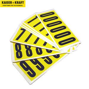 K+K/皇加力 自粘标签 787019 高x宽90x38,自粘胶0–9,10张卡片 1个