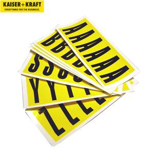 K+K/皇加力 自粘标签 786977 高x宽90x38,自粘胶字母A–Z,26张卡片 1个