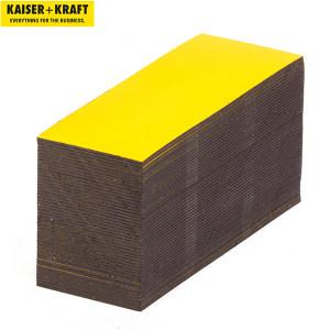 K+K/皇加力 磁性储物标签 706364 黄色  高x宽40x80mm 100个 1包