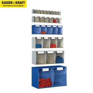 K+K/皇加力 防尘透明零件盒 258695 外壳高x宽x深113x600x91,6盒,沙米色 1个