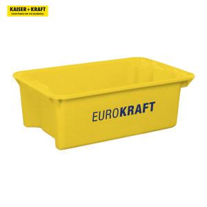 K+K/皇加力 可插可堆式周转箱 520923 34L容量  实心壁和底座  黄色 4个 1包