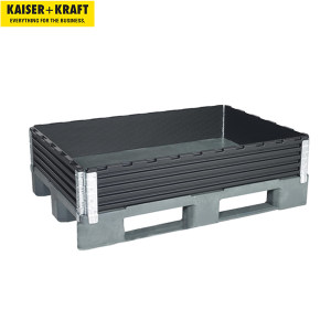 K+K/皇加力 塑料托盘围栏 978044 适用于1200x800欧式托盘可对角折叠,带4个铰链,5包以上 1包