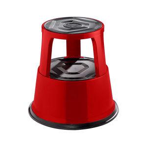 K+K/皇加力 钢板材质脚凳 119976 负重时高度为420,三个脚轮红色 1个