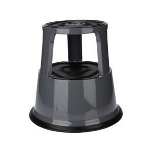 K+K/皇加力 钢板材质脚凳 119974 负重时高度为420,三个脚轮灰色 1个