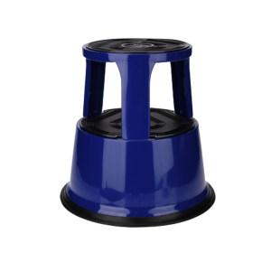 K+K/皇加力 钢板材质脚凳 119973 负重时高度为420,三个脚轮蓝色 1个