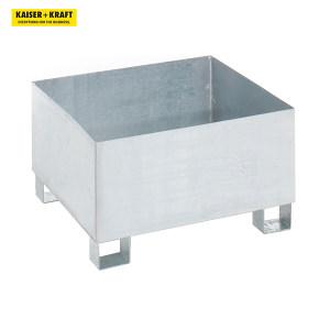 K+K/皇加力 QUIPO 200L圆桶贮存盘 116167 长x宽x高800x800x465mm 经过认证 热浸镀锌 不带格栅 1个