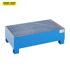 K+K/皇加力 QUIPO 200L圆桶贮存盘 116174 长x宽x高1200x800x360mm 经过认证 蓝色喷粉 带格栅 1个