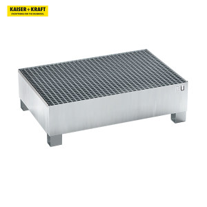 K+K/皇加力 QUIPO 200L圆桶贮存盘 117160 长x宽x高1200x800x360mm 经过认证 热浸镀锌 带格栅 1个