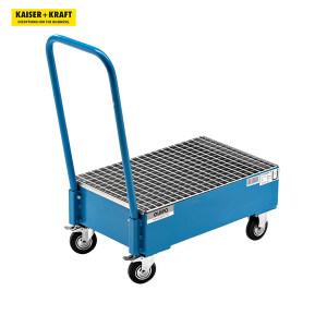 K+K/皇加力 QUIPO钢板制移动式贮存盘 474434 长x宽800x500mm 2x60L立式圆桶 蓝色RAL 5012喷粉 1个