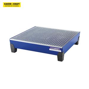 K+K/皇加力 带PP支脚的EUROKRAFT钢制贮存盘 111778 长x宽x高1240x1210x295mm 蓝色 带格栅 1个