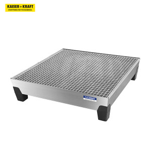 K+K/皇加力 带PP支脚的EUROKRAFT钢制贮存盘 111780 长x宽x高1240x1210x295mm 热浸镀锌 带格栅 1个