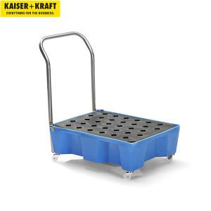 K+K/皇加力 适用于60升圆桶和小容器的贮存盘 175695 移动式 带把手 带格栅 1个