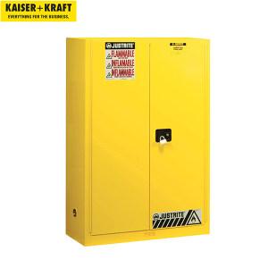 K+K/皇加力 JUSTRITE FM安全存储柜 424748 高x宽x深1651x1092x457mm 手动门 适用于水污染介质 黄色 1个