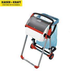 K+K/皇加力 工业用清洁纸卷纸架套装 969430 带垃圾袋支架 黑色/红色 1个
