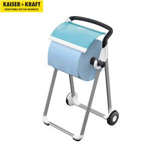 K+K/皇加力 工业用清洁纸卷纸架 519664 落地支架 蓝绿色/白色 1个