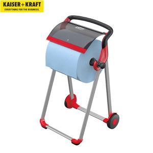 K+K/皇加力 工业用清洁纸卷纸架 519665 落地支架 黑色/红色 1个