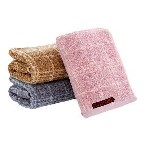 KING SHORE/金号 简约格子纯棉毛巾 G1955H 36×74cm 灰色 100%纯棉(缎档及装饰部分除外) 110g 1条