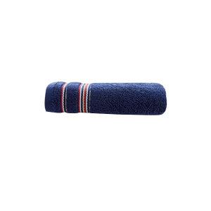 KING SHORE/金号 条纹缎档纯棉毛巾 GA1067A 30×58cm 蓝色 100%纯棉(缎档及装饰部分除外) 78g 1条
